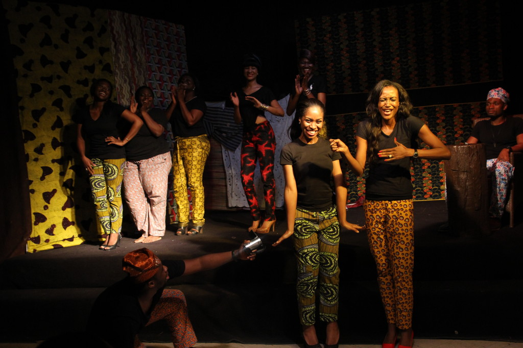 The hilarious stage adaptation of Bobo Omotayo's book 'London Life Lagos Living' at the Festival last year