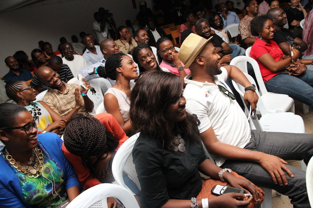 cross section of audience enjoying the performances